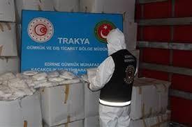 Kapıkule Sınır Kapısı'nda 573 bin 750 adet tıbbi maske ele geçirildi