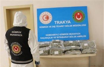 Hamzabeyli Gümrük Kapısında İki Valiz Dolusu Uyuşturucu Yakalandı