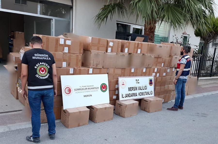 Mersin'de elektronik eşya kaçakçılığı operasyonu