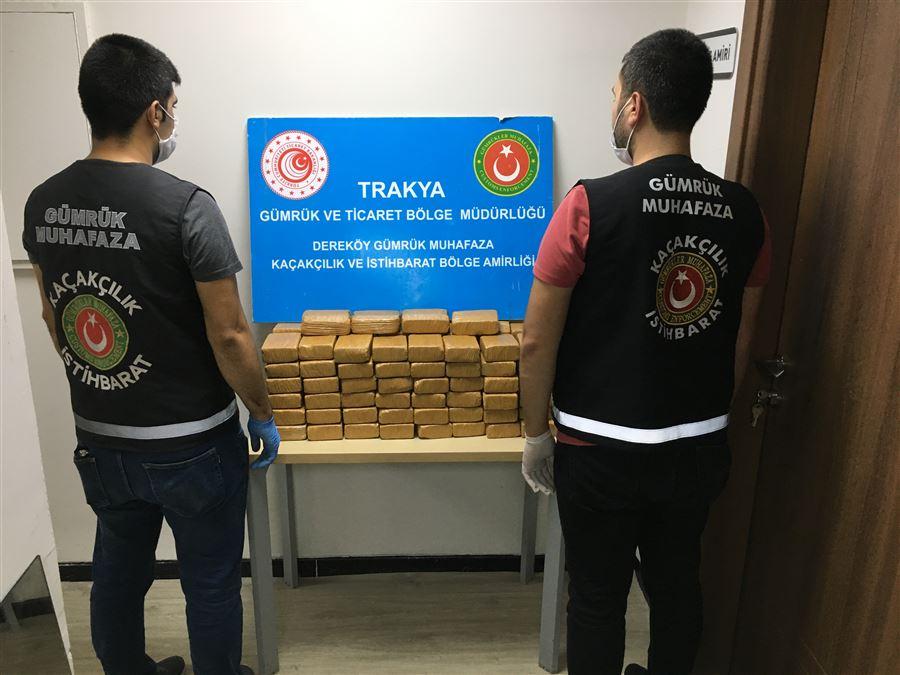 Gümrük Muhafaza Ekiplerince Kırklareli'nde 50,9 Kilogram Eroin Yakalandı