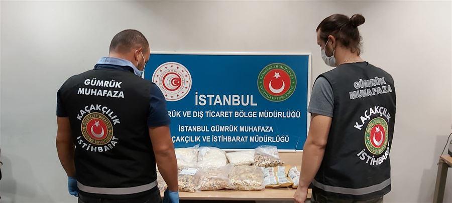 İstanbul Sabiha Gökçen Havalimanında Kuruyemiş Paketlerine Gizlenen Uyuşturucu Gümrük Muhafaza Ekiplerini Geçemedi